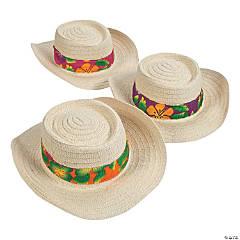 ffb3992b5c9 Beach Hats with Hibiscus Print Band