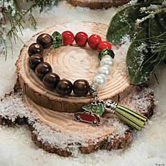Beaded Christmas Charm Bracelet Idea