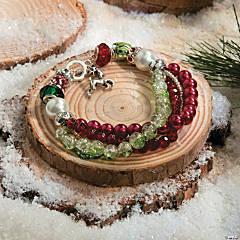 Beaded Fancy Christmas Bracelet Idea