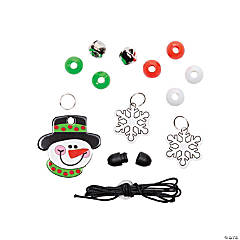 Beaded Snowman Necklace Craft Kit