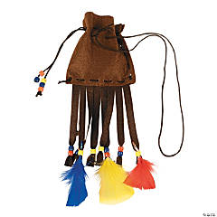 Beads & Feathers Pouch Necklace Craft Kit