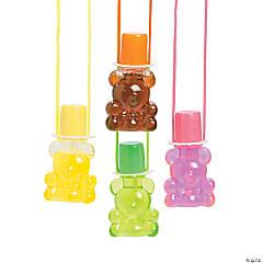 Bear Bubble Bottle Necklaces