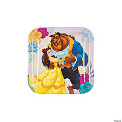 Beauty & the Beast Paper Dessert Plates - 8 Ct.