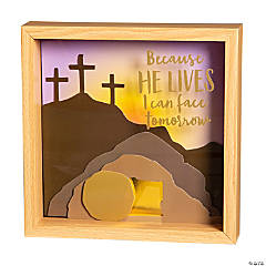 Because He Lives Easter Shadow Box Craft Kit