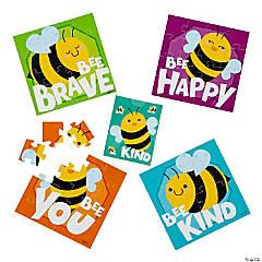 Bee Kind Positive Sayings Jigsaw Puzzles