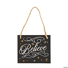 Believe Christmas Ornaments