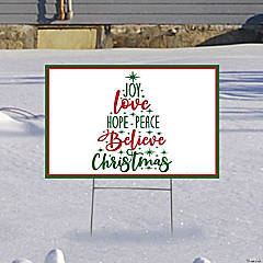 Believe in Christmas Yard Sign