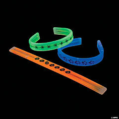 Bendable Halloween Print Glow Bracelets