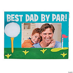 Best Dad By Par Picture Frame Magnet Craft Kit