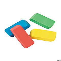 Beveled Rainbow Erasers - 24 Pc.