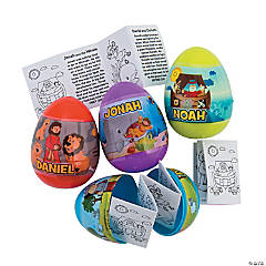 Bible Story-Filled Plastic Easter Eggs - 12 Pc.