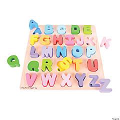Bigjigs Toys Chunky Alphabet Jigsaw Puzzle, Uppercase