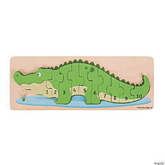 Bigjigs Toys Crocodile Number Jigsaw Puzzle, 11 Pieces