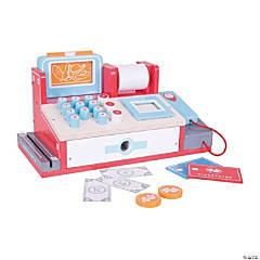 Bigjigs Toys Wooden Shop Till (Cash Register) with Scanner