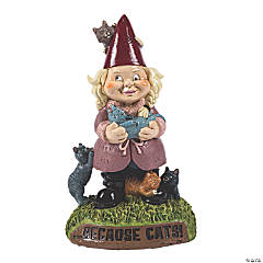 BigMouth® Crazy Cat Lady Garden Gnome