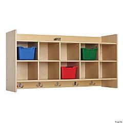 Birch 10-Section Hanging Coat Locker with Shelf