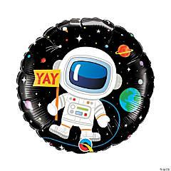 Birthday Astronaut Mylar Balloon
