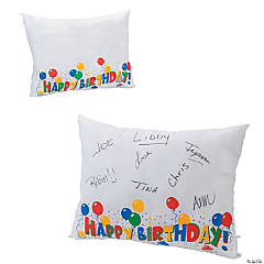 Birthday Autograph Pillow