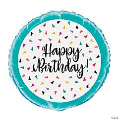Birthday Confetti Mylar Balloon