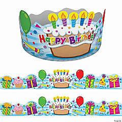 Birthday Crowns, 30 Per Pack, 2 Packs