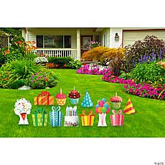 Birthday Icons Yard Sign Kit