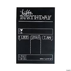 Birthday Milestone Chalkboard Sign