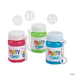Birthday Party Mini Bubble Bottles