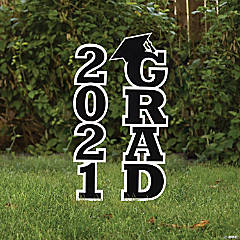 Black 2021 Grad Yard Signs
