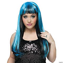 Black & Blue Natural N Neon Wig
