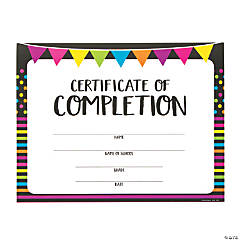 Black & Bright Certificates of Completion