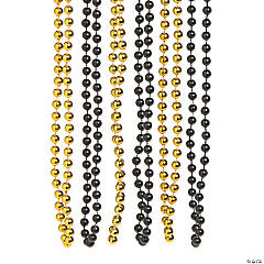 Black & Gold Beaded Necklaces