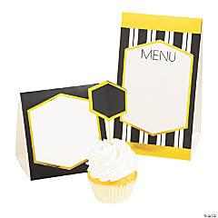 Black & Gold Buffet Décor Kit