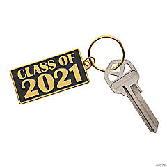 Black & Gold Class of 2021 Keychains