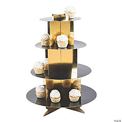 Black & Gold Cupcake Stand