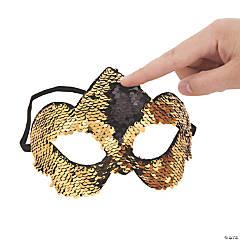 Black & Gold Flipping Sequins Masks