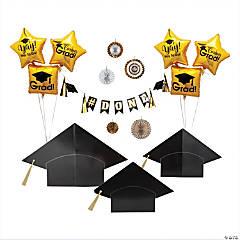 Black & Gold Graduation Decorating Kit