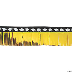 Black & Gold Graduation Fringe Garland