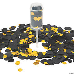 Black & Gold Push-Up Confetti Poppers