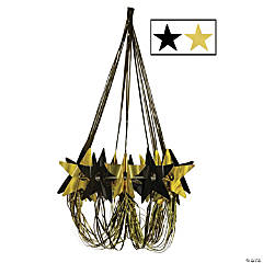 Black & Gold Star Chandelier Decoration