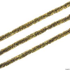 Black & Gold Tinsel Garland