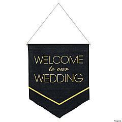 Black & Gold Wedding Banner