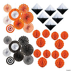 Black & Orange Hanging Decorating Kit