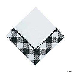 Black & White Buffalo Check Luncheon Napkins