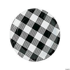 Black & White Buffalo Check Paper Dinner Plates - 8 Ct.