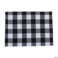 Black & White Buffalo Check Placemats