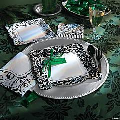 Black & White Christmas Party Supplies