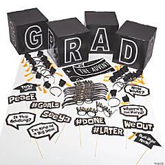 Black & White Graduation Decorating Kit