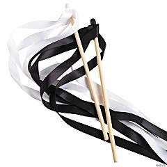 Black & White Ribbon Wands