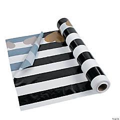 Black & White Valentine Tablecloth Roll
