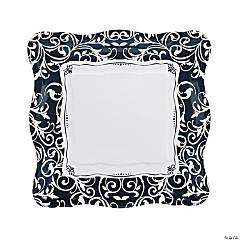 Black & White Wedding Paper Dinner Plates - 8 Ct.